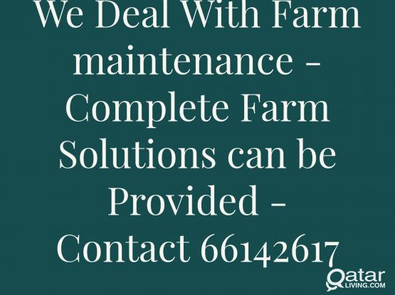 We deal With Farm Maintenance