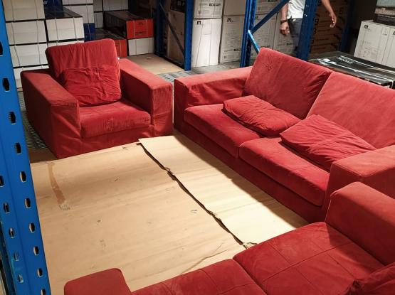 Red Sofa set - 3+2+1