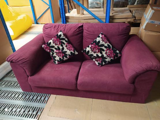 2 seater purple Sofa