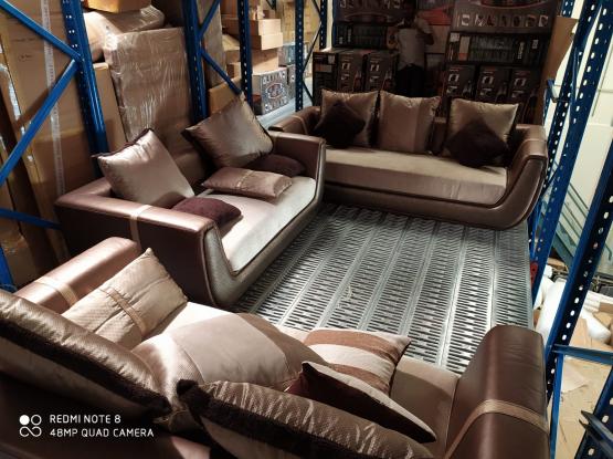 Brown Sofa set 3+2+2 seater