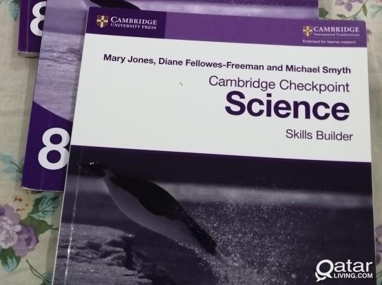 Cambridge books 8th/7th 6,5 level science English mathematics