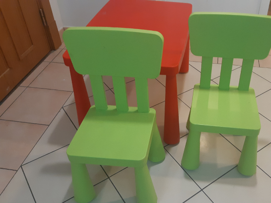 Ikea kids chairs and table