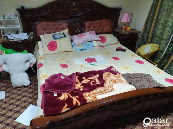 double bed with mattress....