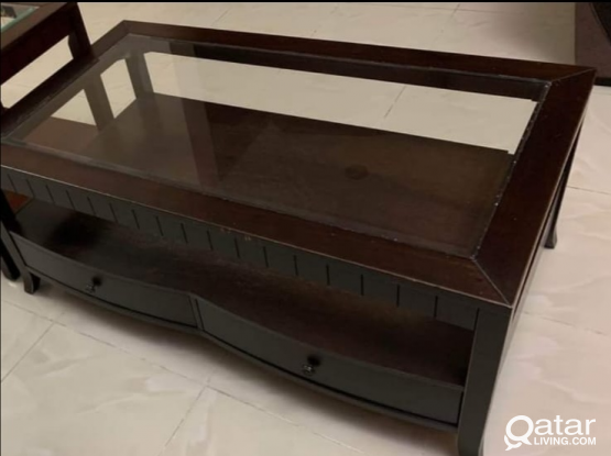 Big Table with Glass Top @ Qr.250/- Only