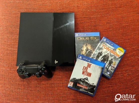 Playstation 4 500GB + 3 Games + One controller