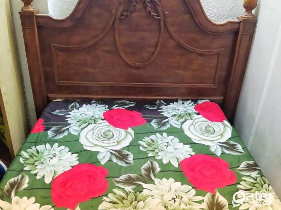 Queen Size GOOD CONDITION BED available for 450 QR. ONLY with FREE MATRESS.