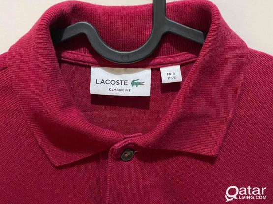 2 Original Lacoste Polo Classic Fit *Excellent Condition* (Red and Blue)