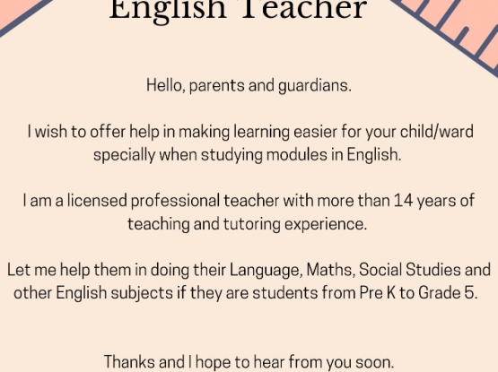 Private Female English Tutor