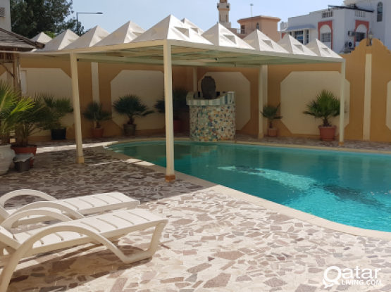 ( DIRECT FROM OWNER ) NO COMMISSION...4 BEDROOM SEMI FURNISHED COMPOUND VILLA AT OLD AIRPORT