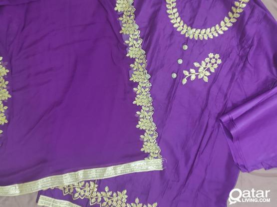 Pakistani Indian fancy unstitched shalwar kameez (3 piece)