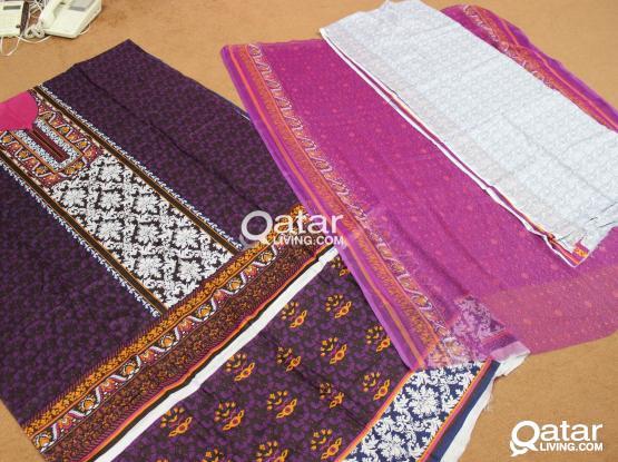 Pakistani Indian unstitched 3 piece shalwar kameez suits
