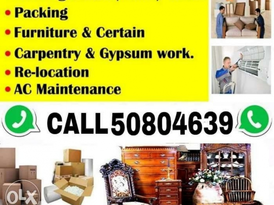 Qatar movers and packres call 50804639