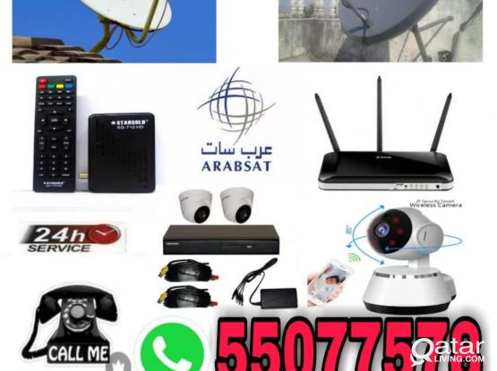 Satellite Dish T.v And Cctv Camera Work Service