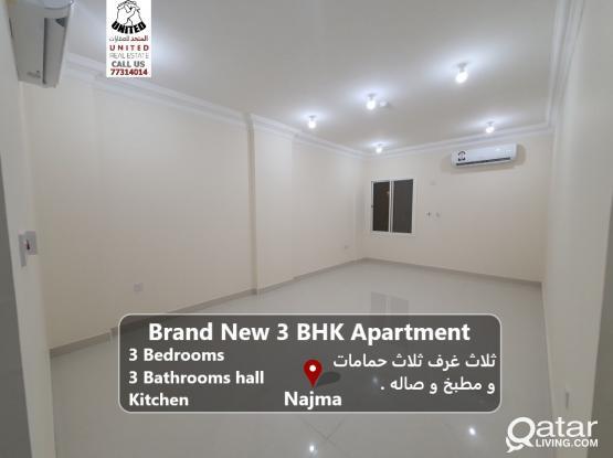 brand New 3 BHK apartment in Najma