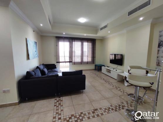 INCLUDING ALL BILLS...FURNISHED 2 BHK APARTMENT WITH MARINA VIEW ..PORTO ARABIA