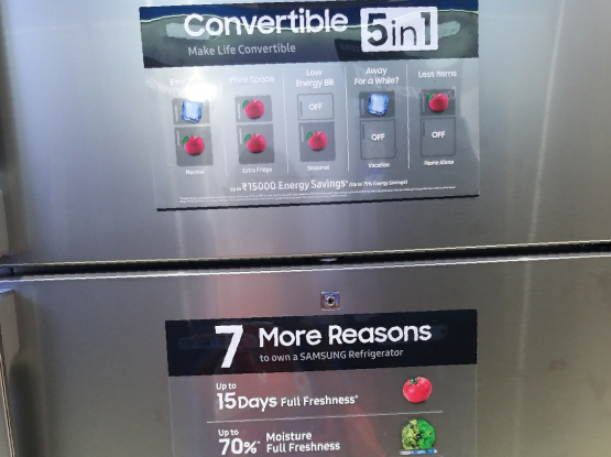 Samsung Fridge- 720ltrs- Conversion mode.