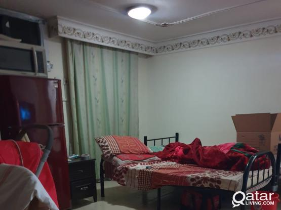 Spacious Fully Furnished / Unfurnished Studio for rent in Luqta - Souq Al Ali.