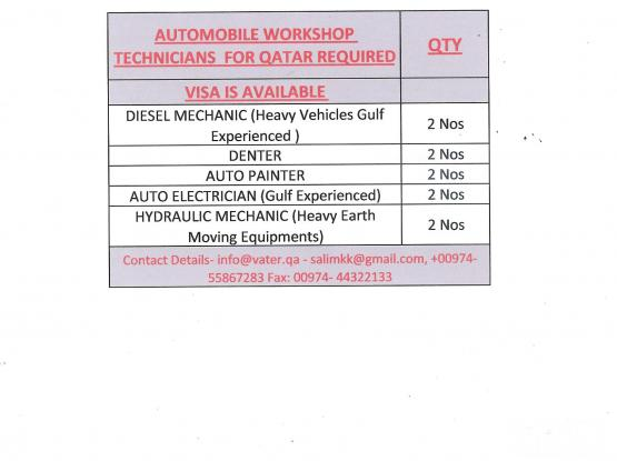 DIESEL  MECHANIC FOR AUTOMOBILE GUARAGE