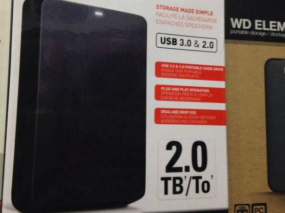 brand new thoshiba 2tb external hard disk