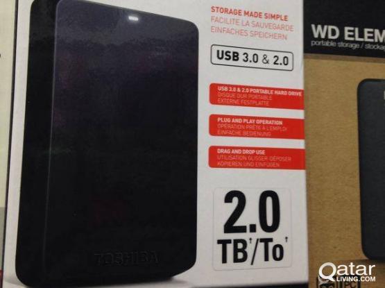 brand new toshiba 2tb external hard disk