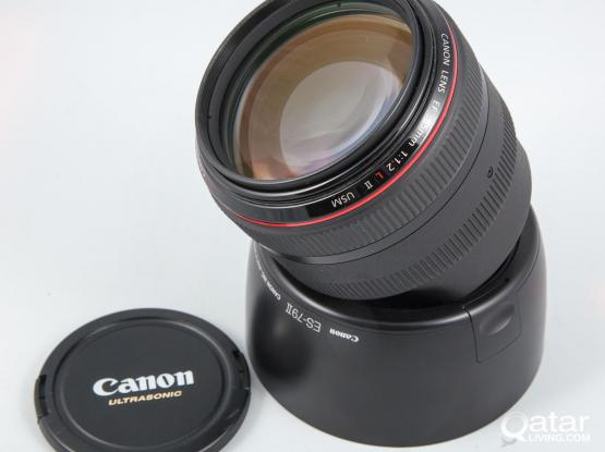 FOR SALE Canon ef 85mm f/1.2l ii usm