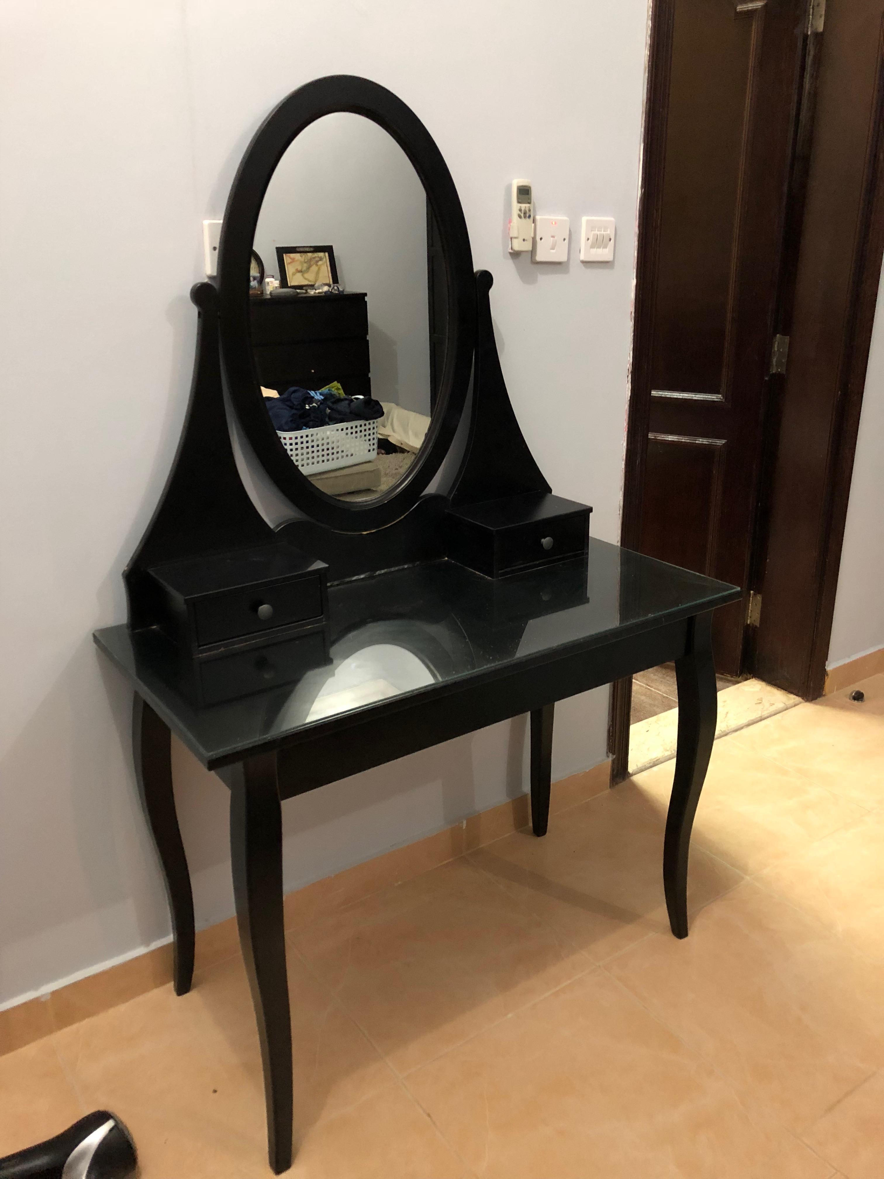 Black Ikea Vanity Table Qatar Living