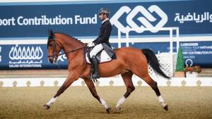 Jassim Al Kuwari rides Monopoly to victory in Longines Hathab Qatar Equestrian Tour dressage competition 8th round