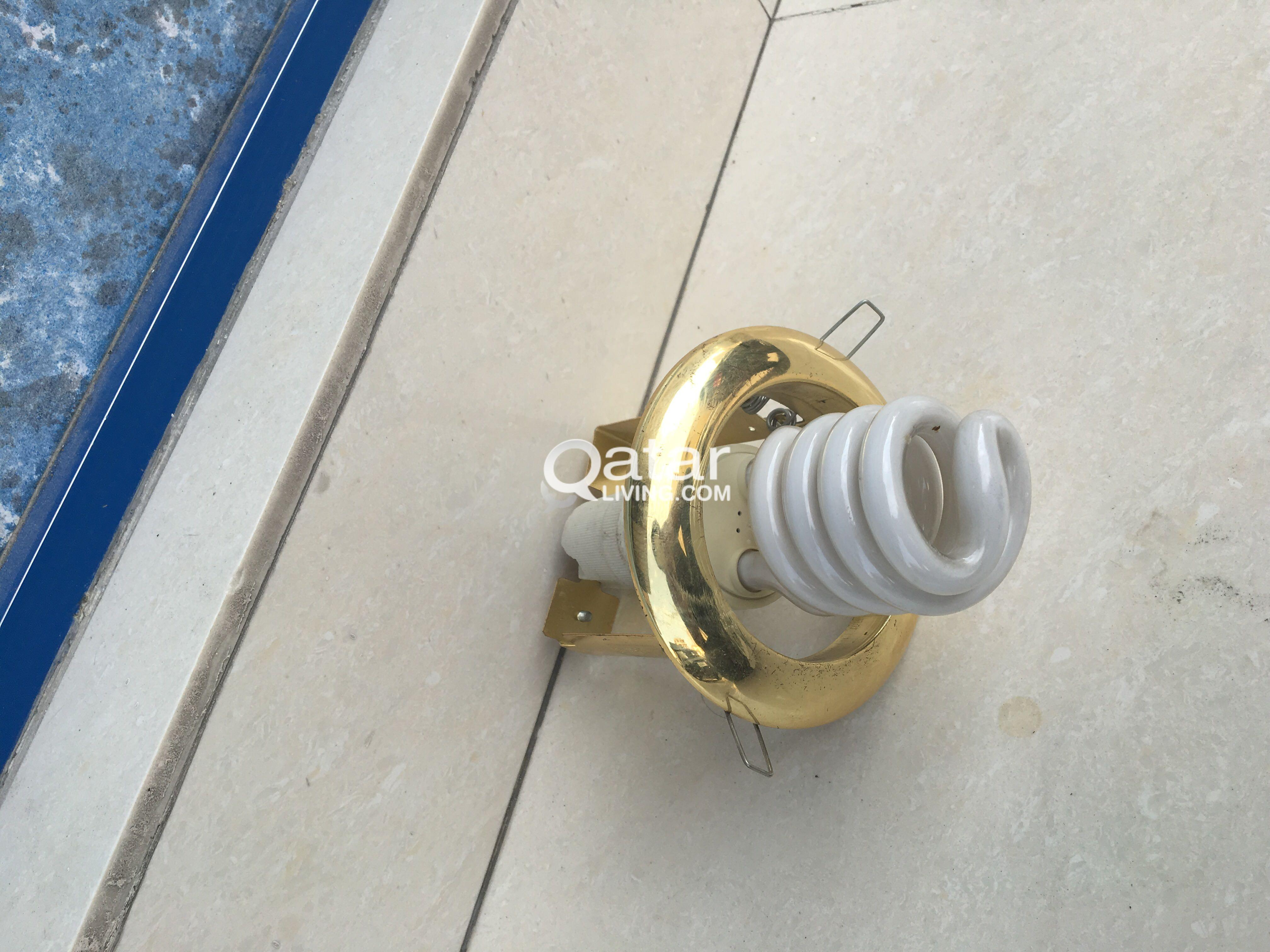 CFL with Fitting (gold colour ring with holder)