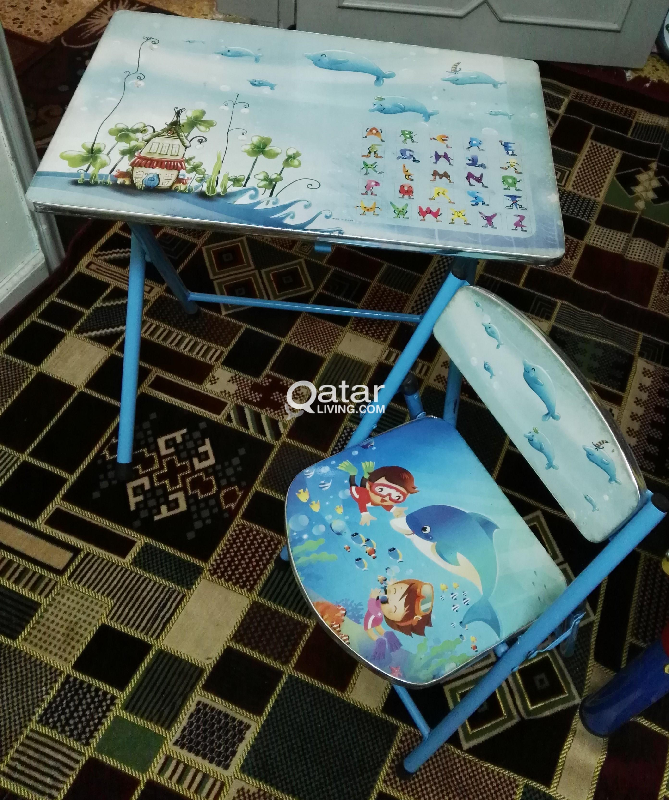 Kids Fun to Study Table with Chair, 2 sets