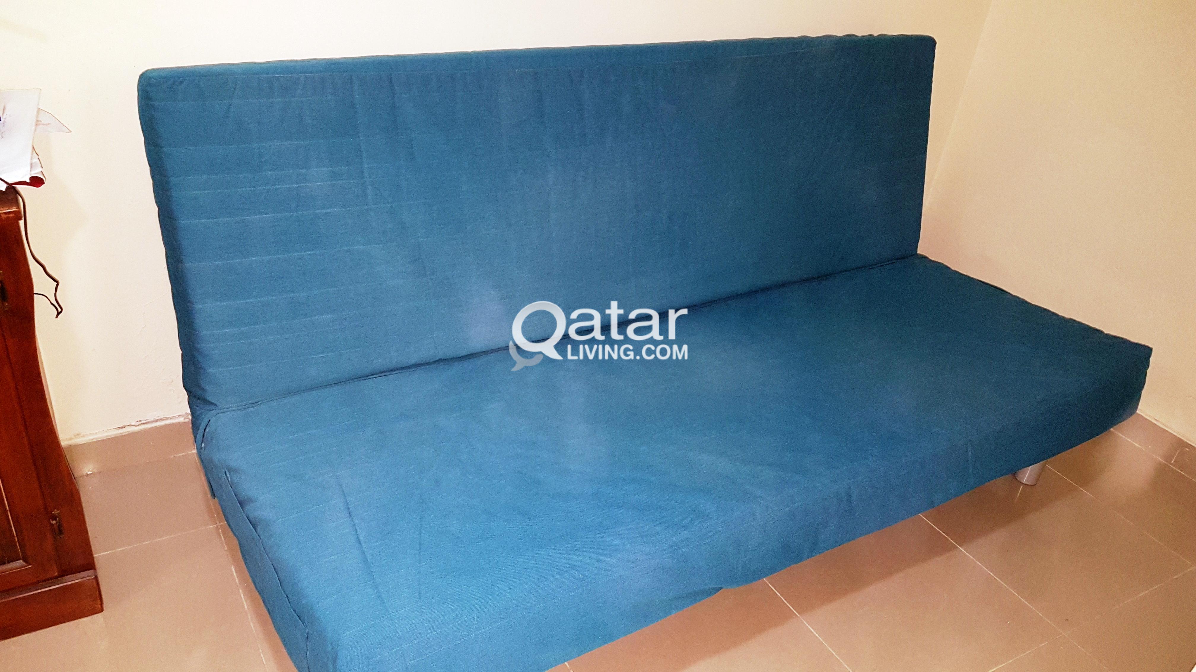 3 Seat Ikea Beddinge Sofa Bed With Pocket Spring Mattress Borred Blue And Ikea Beddinge Bed Storage Box Qatar Living