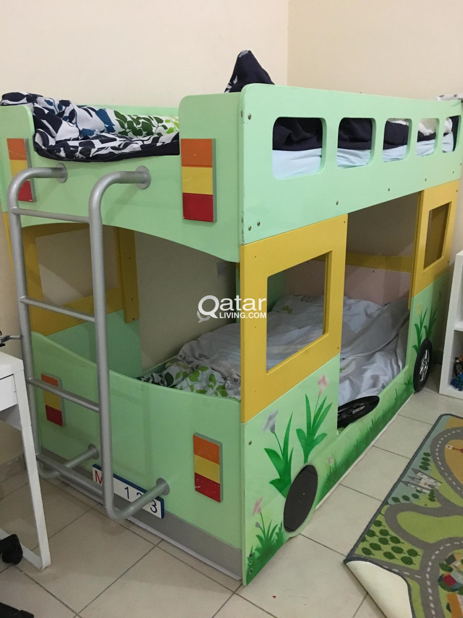 Kids Double Bunk Bed For Immediate Sale Qatar Living