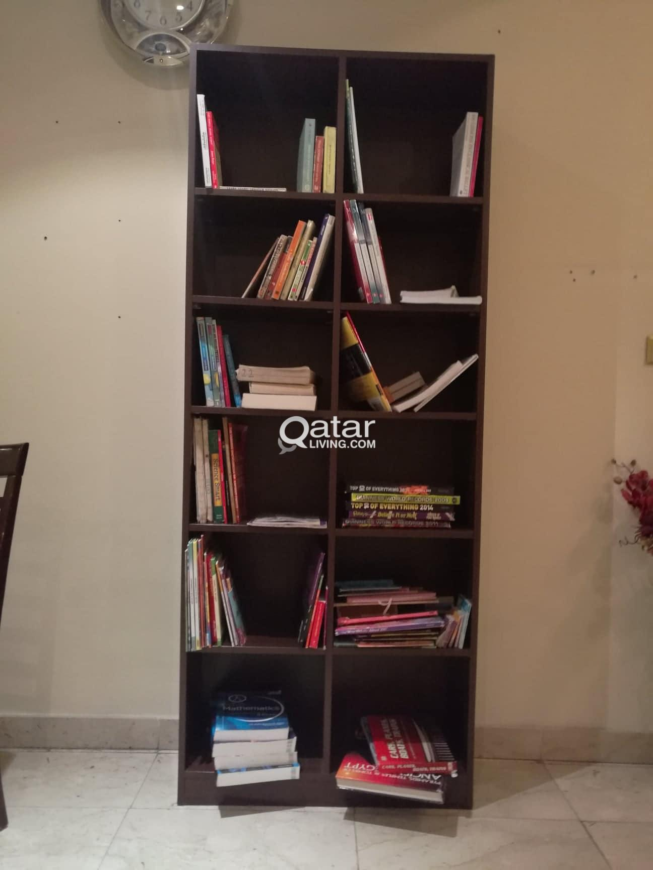 various bookshelves/display shelves/storage