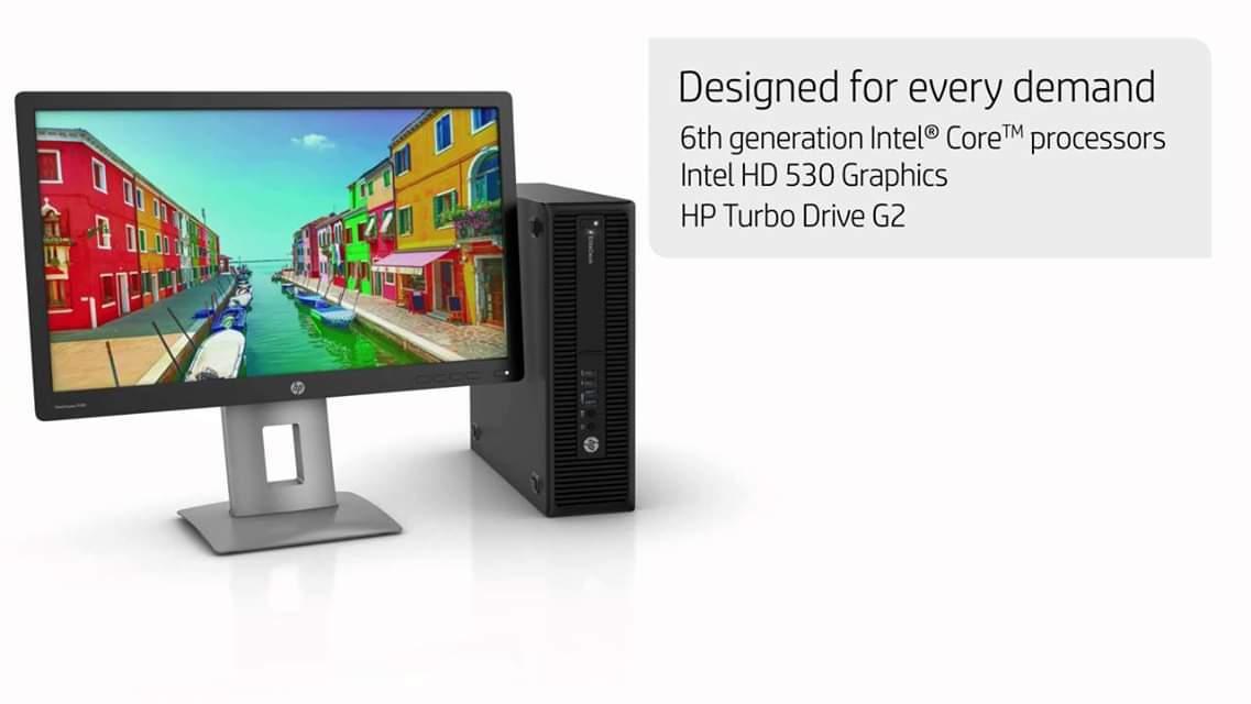 Hp Elitedesk i7-6700 CPU 3.40GHZ-16GB RAM-500GB HD