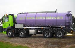 sewage tanker and. Manhole block removing