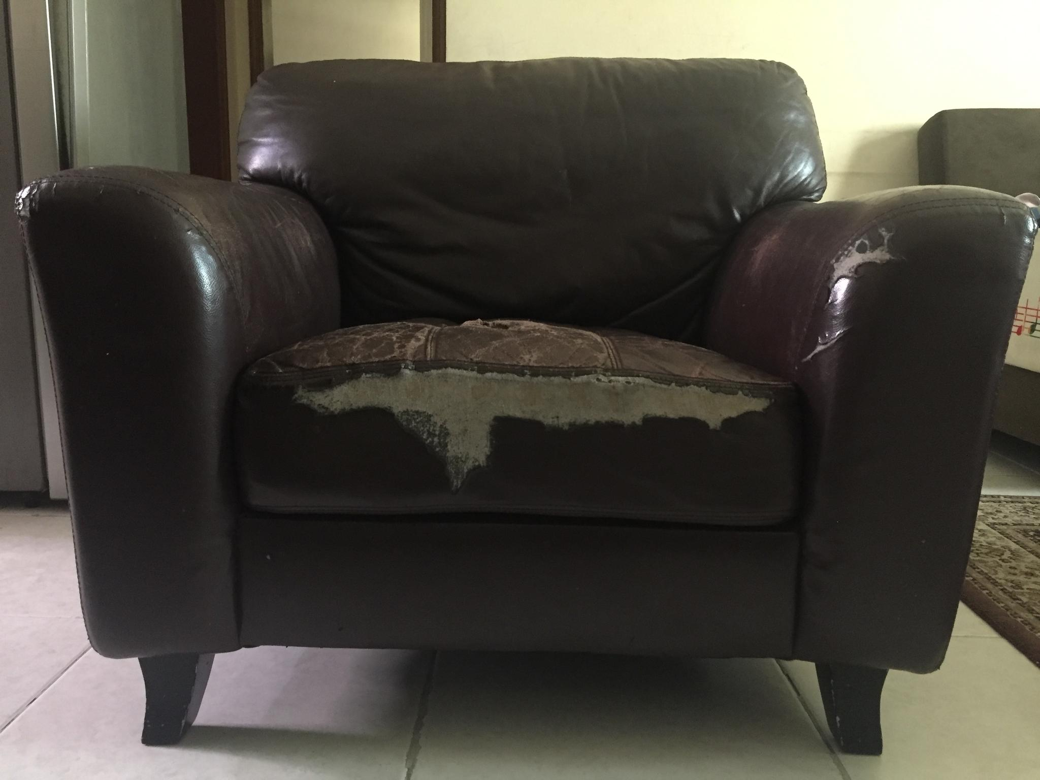 Leather Sofa (single seater) for Free