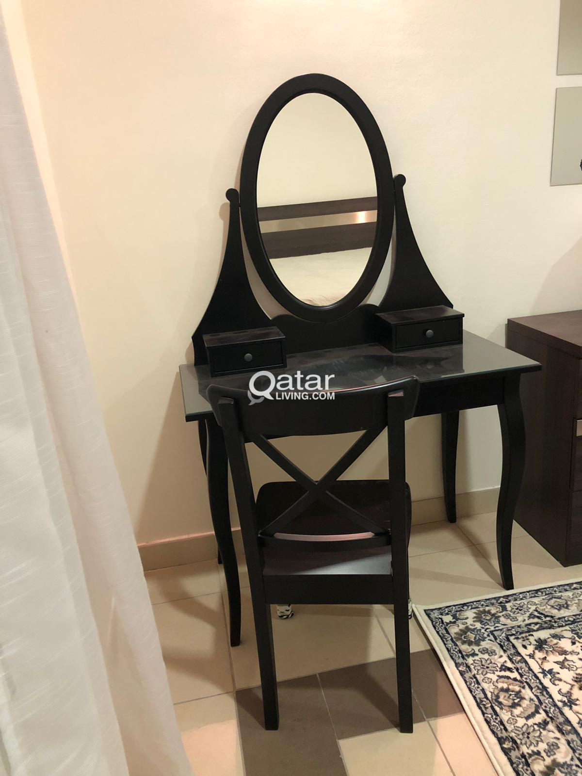 Dresser With Mirror And Chair From Ikea Qatar Living