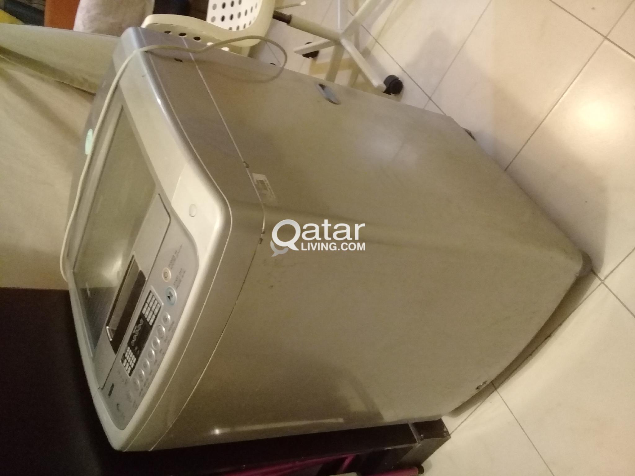 Washing Machine, Tv, table
