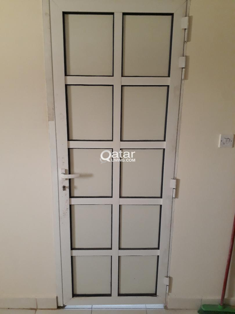 ALUMINUM DOOR WITH FRAME FOR SALE .only serious bu