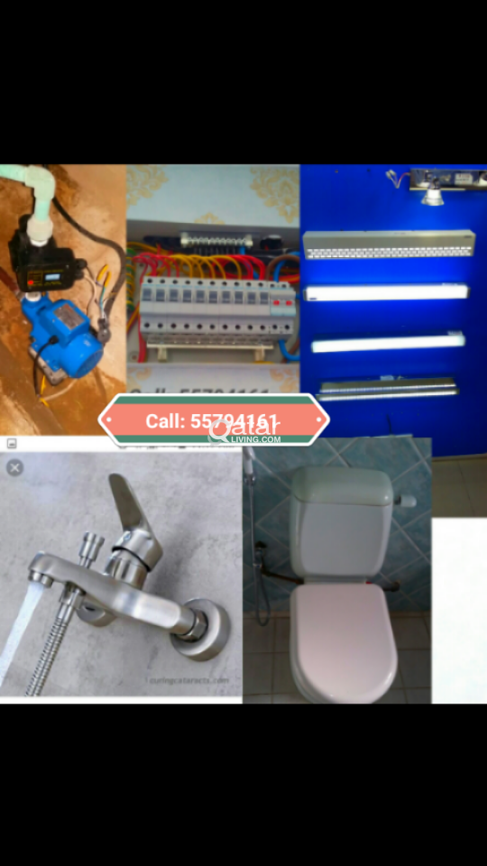 Electric, plumbing and carpentery, painting, tiles