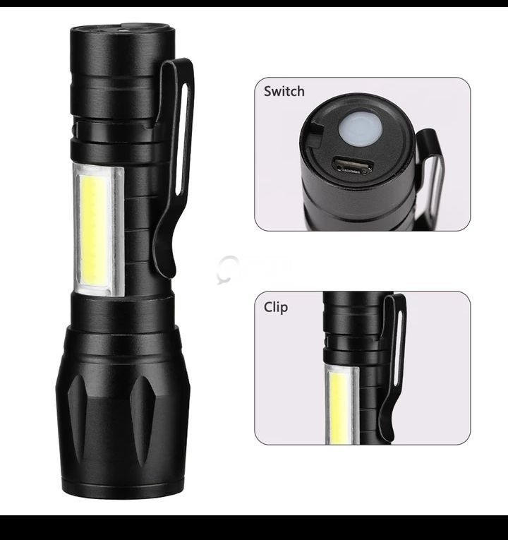 USB high brightest  double place led flashlight