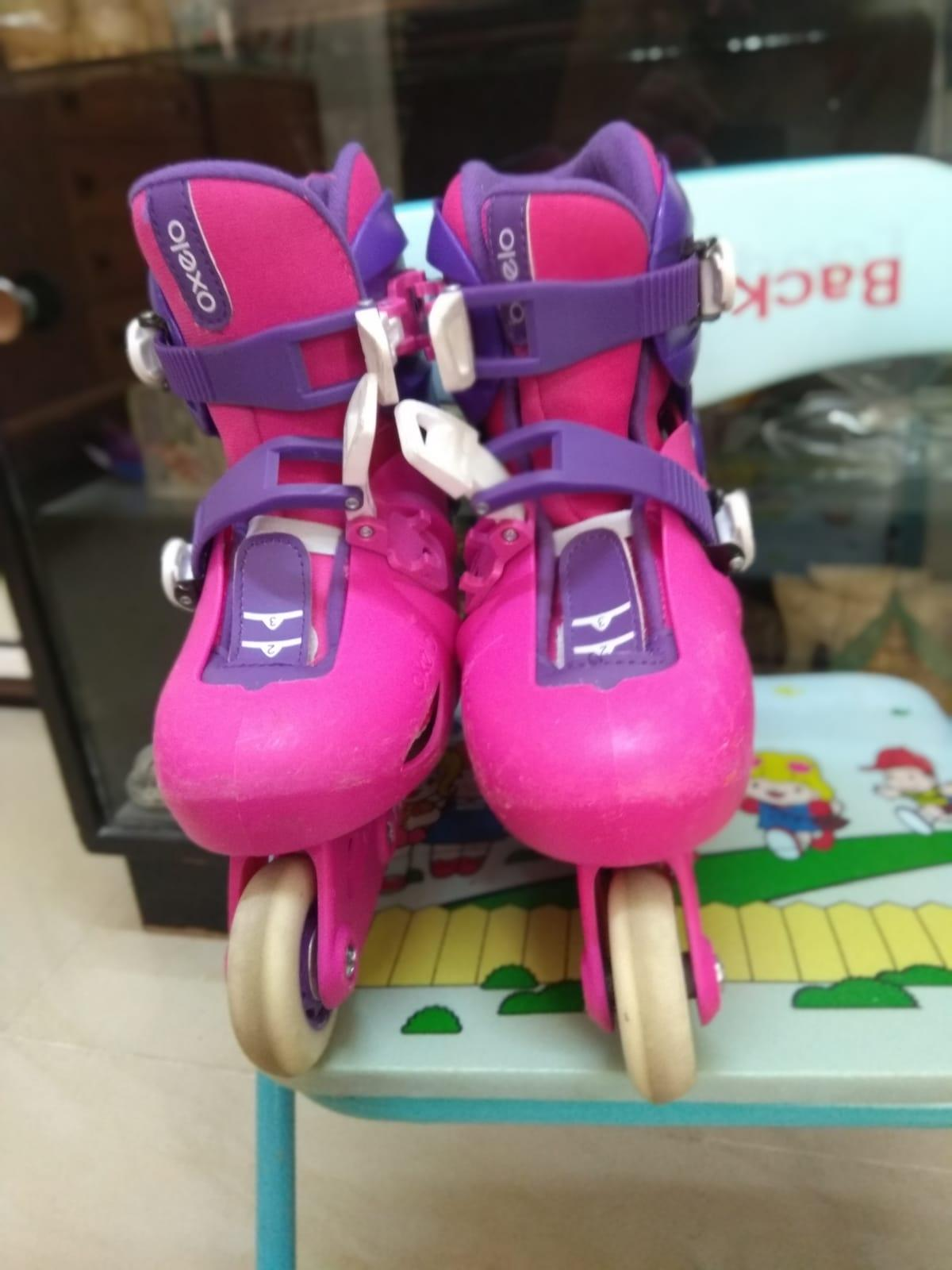 Inline skates with accessories