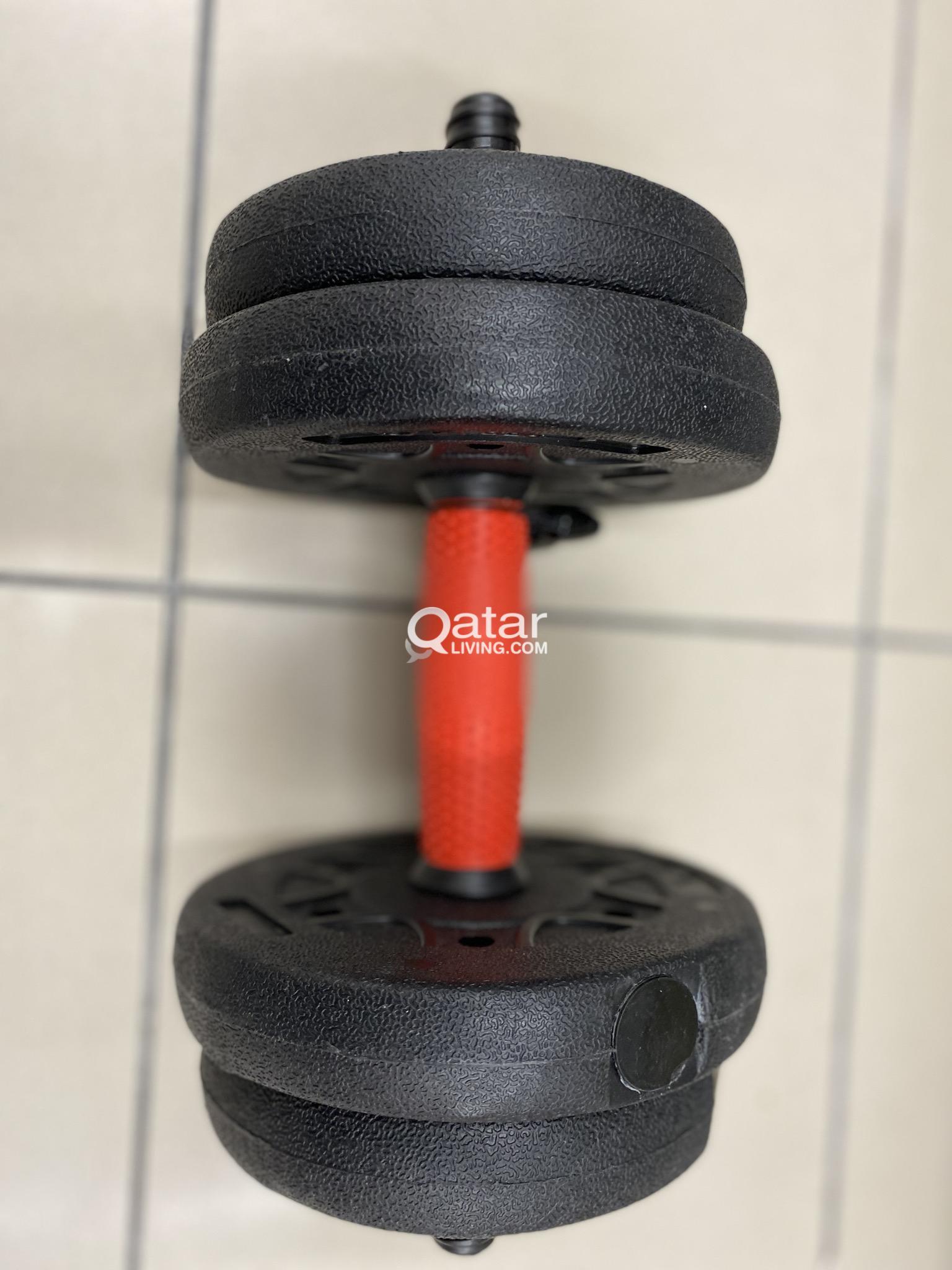 10kg Dumbbell set rubber one