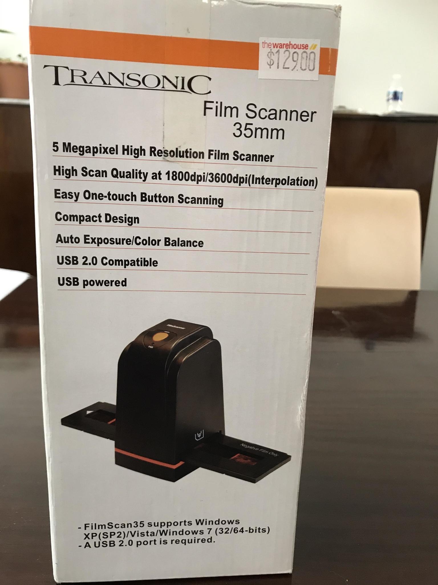 Transonic film scanner 35 mm