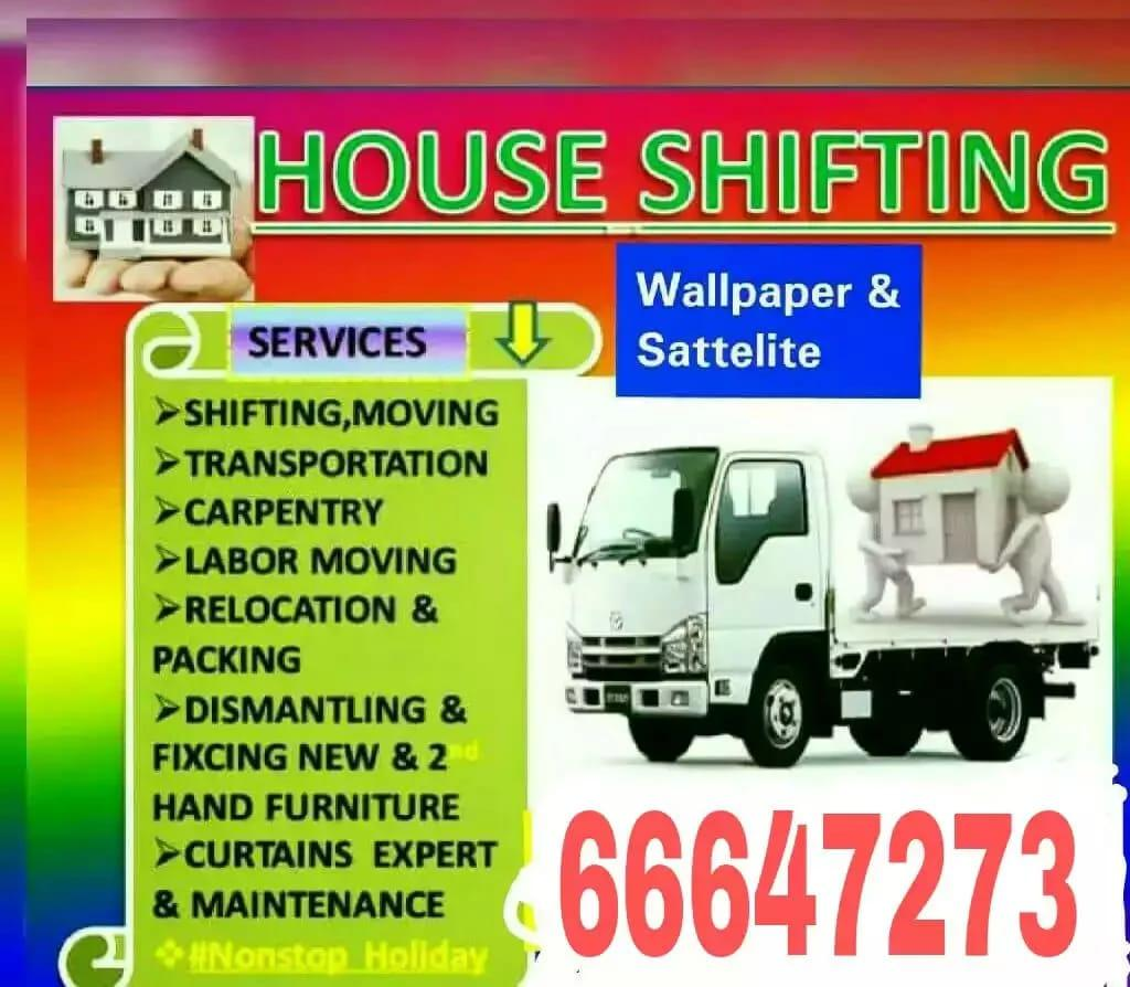 Shifting and Moving, packing,Carpentry  service ca
