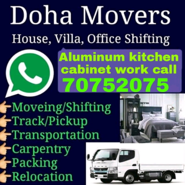 We do all typeof shifting moving.And Aluminum work