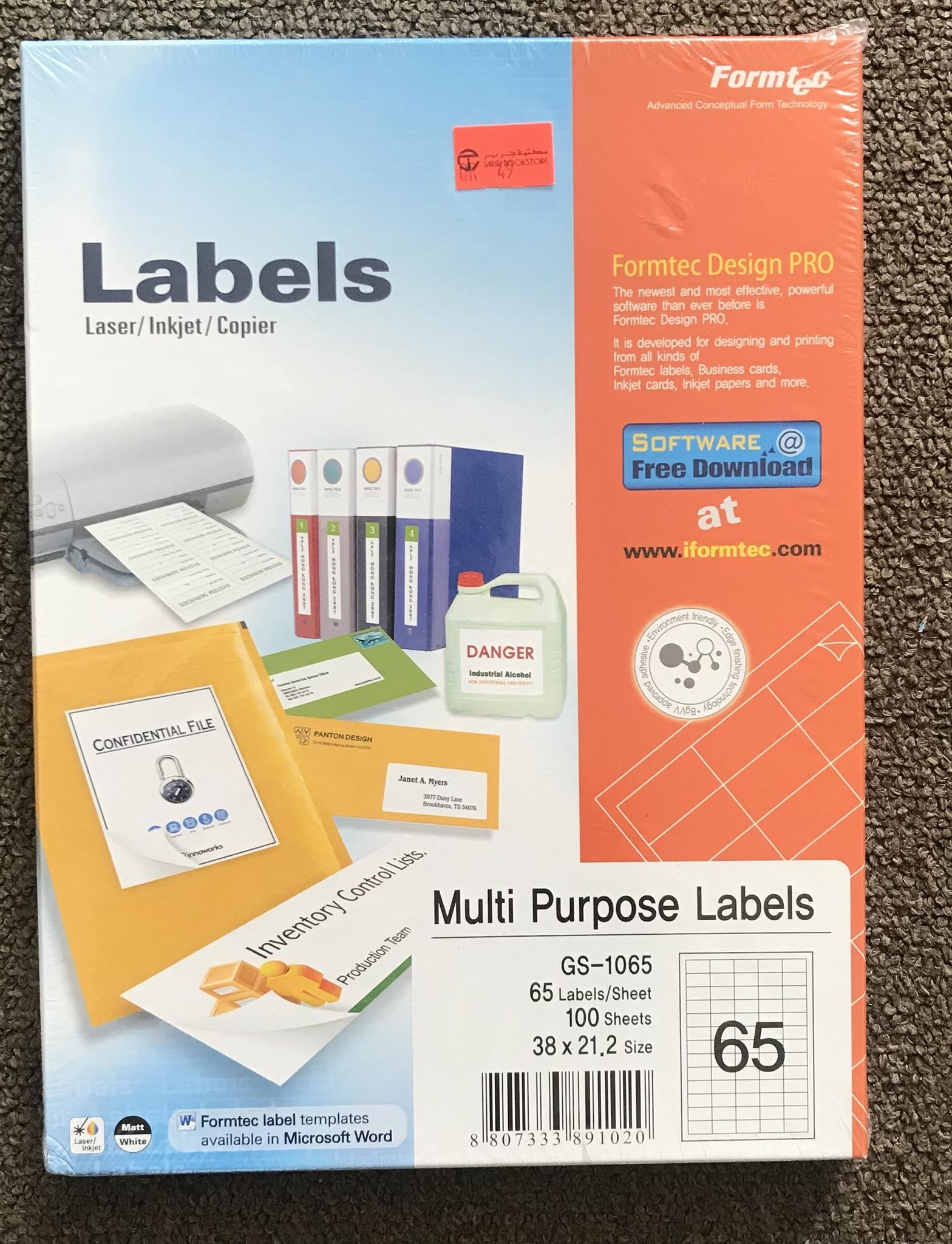 Multi purpose labels