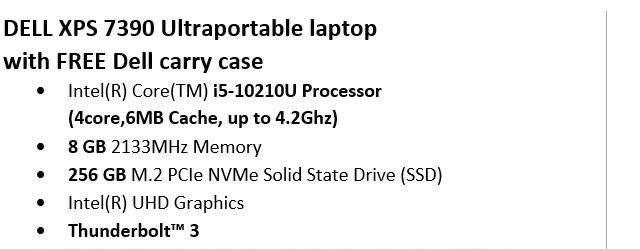 Dell XPS 7390 Ultra Portable
