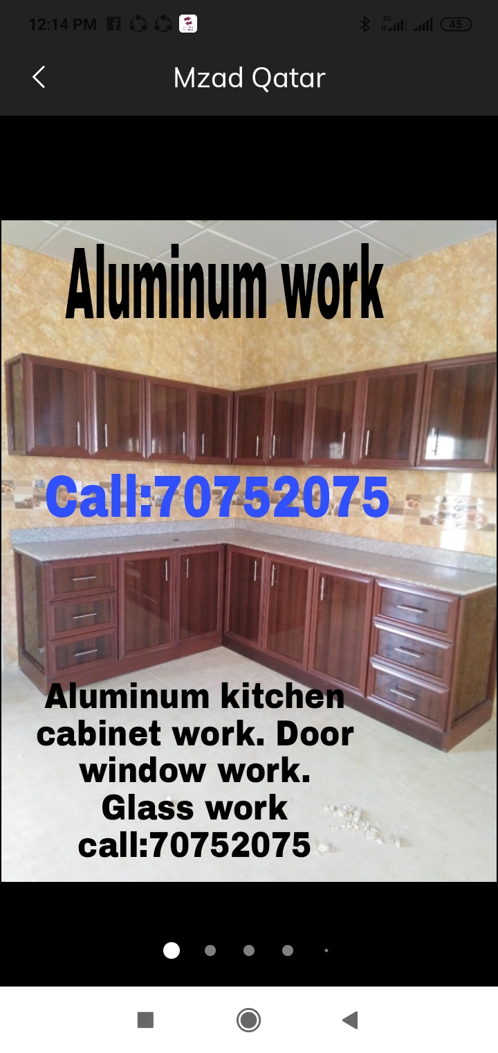 Aluminum kitchen cabinet work Moving & shifting