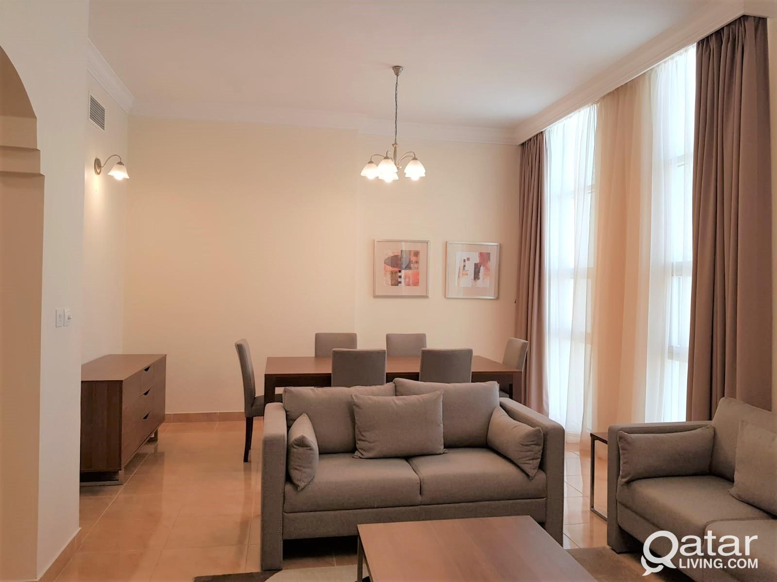 Furnished 2BR+All Bills Included in West Bay