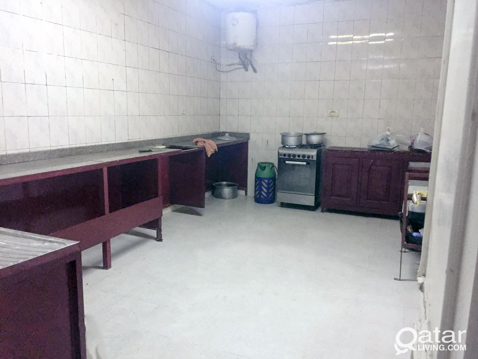 Labor Camp Rent: 1,350/= QR Monthly per room, incl